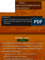 Konsep prilaku organisasi