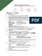Ficha de Registro - Mejoramiento de La Oferta Del Servicio Educativo de La Institución Educativa Integrada de Choquepata, Distrito de Oropesa - Quispicanchi - Cusco