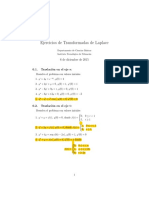 Ejercicios de AplicacionesTransformadas de Laplace