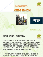 Cable Sizing - Slides