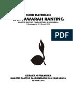 Buku MusRan Cakra & Sandubaya 2016