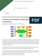Fundamentos de Arquitetura e Organizaçã...Ores - Diego Macêdo - Analista de T.I.