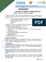 Convocatoria Premio Plurinacional de Ciencia y Tecnologa 2017