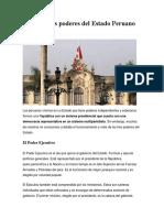 Poderes del Estado Peruano