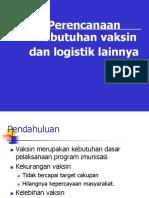 Perencanaan Kebutuhan Vaksin & Logistik
