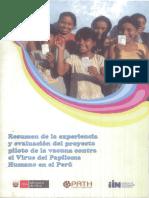 Proyecto piloto de vacuna contra la VPH (MINSA)
