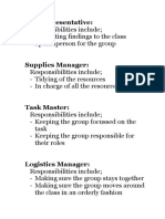 group role descriptions