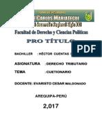 Trabajo de Derecho Tributario.