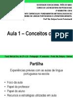 Aula introdutória Fundamentos Metodológicos do Ensino de Língua Portuguesa