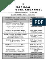 Calendario Corrientes Del 8 Al 15 de Octubre