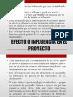 Efecto o Influencia en El Proyecto