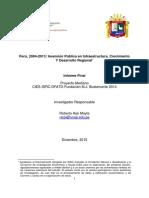 Inversion Publica en Infraestructura Crecimiento y Desarrollo Regional Arpi Una