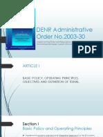 DENR Administrative Order No. 2003- 30