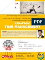 Strategic Time Management Workshop - Advertisement poster