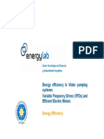 Energy Efficiency in Water Pumping Systems