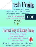 Time to Eat Fruits