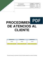 4.7 Procedimiento de Atencion Al Cliente