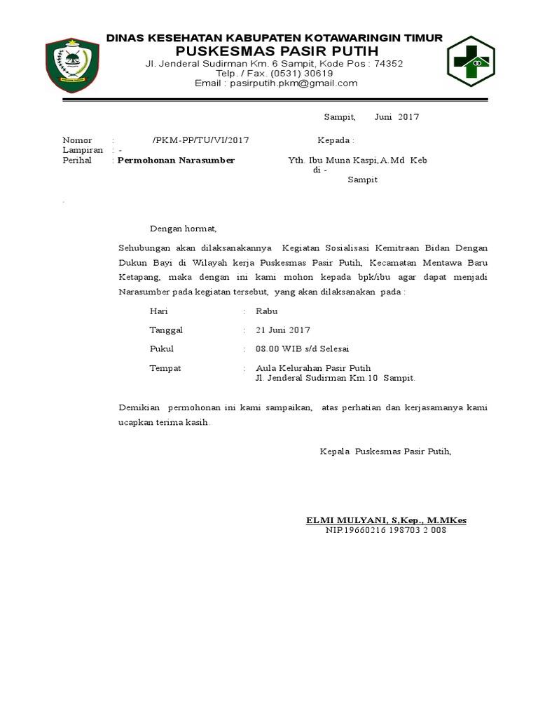 Surat Permohonan Narsum   PDF