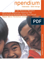 Kompendium - Perjanjian Hukum Dan Peraturan Menjamin Semua Anak Memperoleh Kesamaan Hak Untuk Kualitas Pendidikan Dalam Cara Inklusif