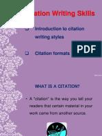 GNS 1203 - Citation Writing Skills