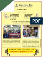 Annual Fund Raising Event Brochure 2017