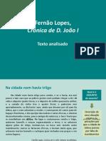 Estudo Da Crónica de D. João I