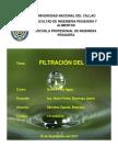 Filtración Del Agua