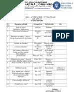 Planificare Activitati Extrascolare VII C