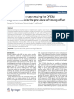 Improved Spectrum Sensing for OFDM Cognitive Radio in the Presence of Timing Offset.pdf