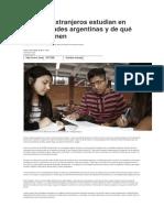 Cuántos Extranjeros Estudian en Universidades Argentinas y de Qué Países Vienen