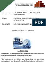 11-04-16 Clase Empresa, Empresario y Tipos de Empresa