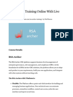 RSA Archer Training