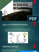 Energía Eólica de Gran Altura