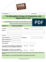 Employment Application Template 25