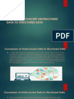 Convert Unstructured Data to Structured Data