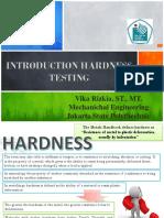 Introduction Hardness Testing