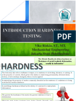 Introduction Hardness Testing