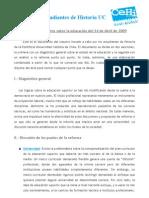 Documento Diagnóstico CEHI 2009 sobre Reforma Universitaria