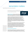 Why Implementation Matters