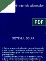 De Unde Vin Numele Planetelor