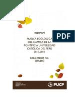 Huella ecológica PUCP 2010-2011