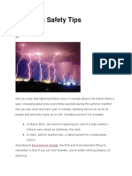 Lightning Safety Tips