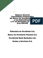 Balance Consolidado Dic 31 2012