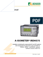 Bender a-Isometer IRDH575 User Manual
