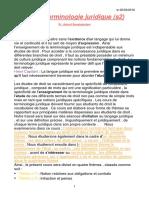 Langue Et Terminologie S2
