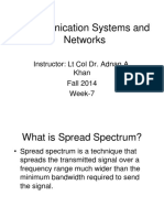 Week7&8-Comm Sys & Networks - SpreadSpectrum&CDMA2000