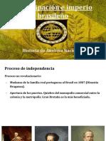 Emancipación e Imperio Brasileño