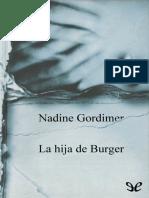 Gordimer, Nadine - La Hija de Burger