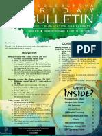 MS Parent Bulletin (Week of October 16 to 20)