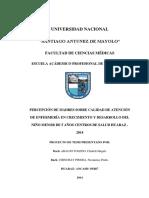 tesis percepción de la calidad en el consultorio cred de los centros de salud Huaraz 2016.